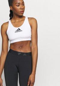 adidas Performance - ASK BRA - Medium support sports bra - white - 3
