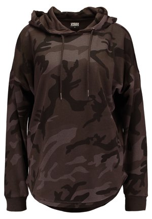 LADIES OVERSIZED CAMO HOODY - Hoodie - grey