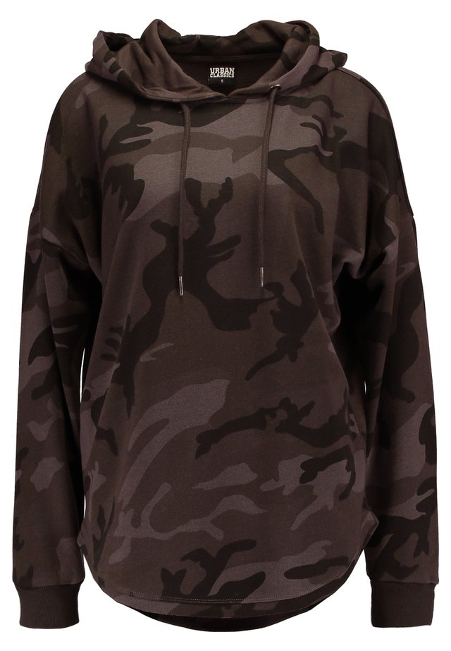 LADIES OVERSIZED CAMO HOODY - Sweat à capuche - grey