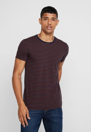 STRIPED TEE  - Printtipaita - dark blue