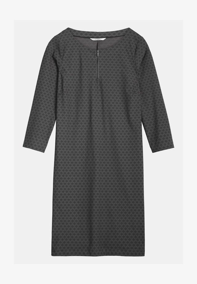 MIT SCHNüRUNG - Jersey dress - dunkelgrau