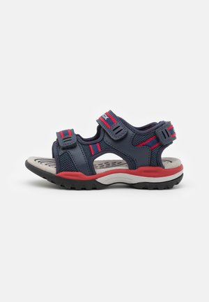 BOREALIS BOY - Walking sandals - navy/red