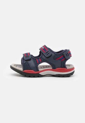 BOREALIS BOY - Walking sandals - navy/red