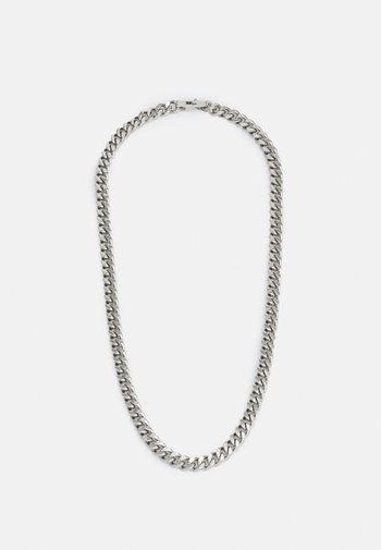 CURB UNISEX - Necklace - silver-coloured shiny