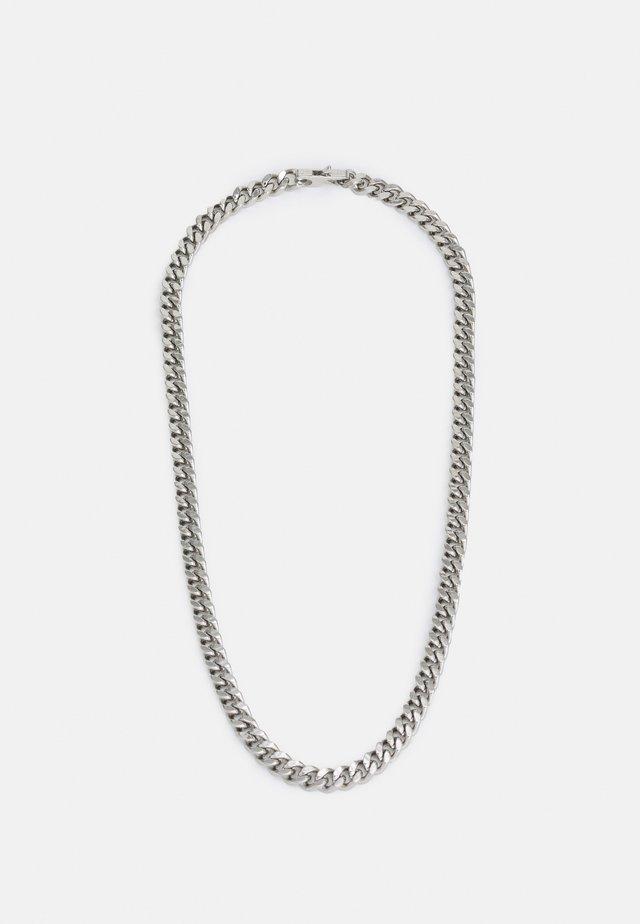 CURB UNISEX - Náhrdelník - silver-coloured shiny