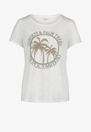 Print T-shirt - cream/khaki