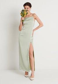 NA-KD - HIGH SLIT DRESS - Maxi dress - dusty green - 1