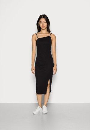 NECKLINE DAY TO NIGHT BLACK DRESS - Žerzejové šaty - black