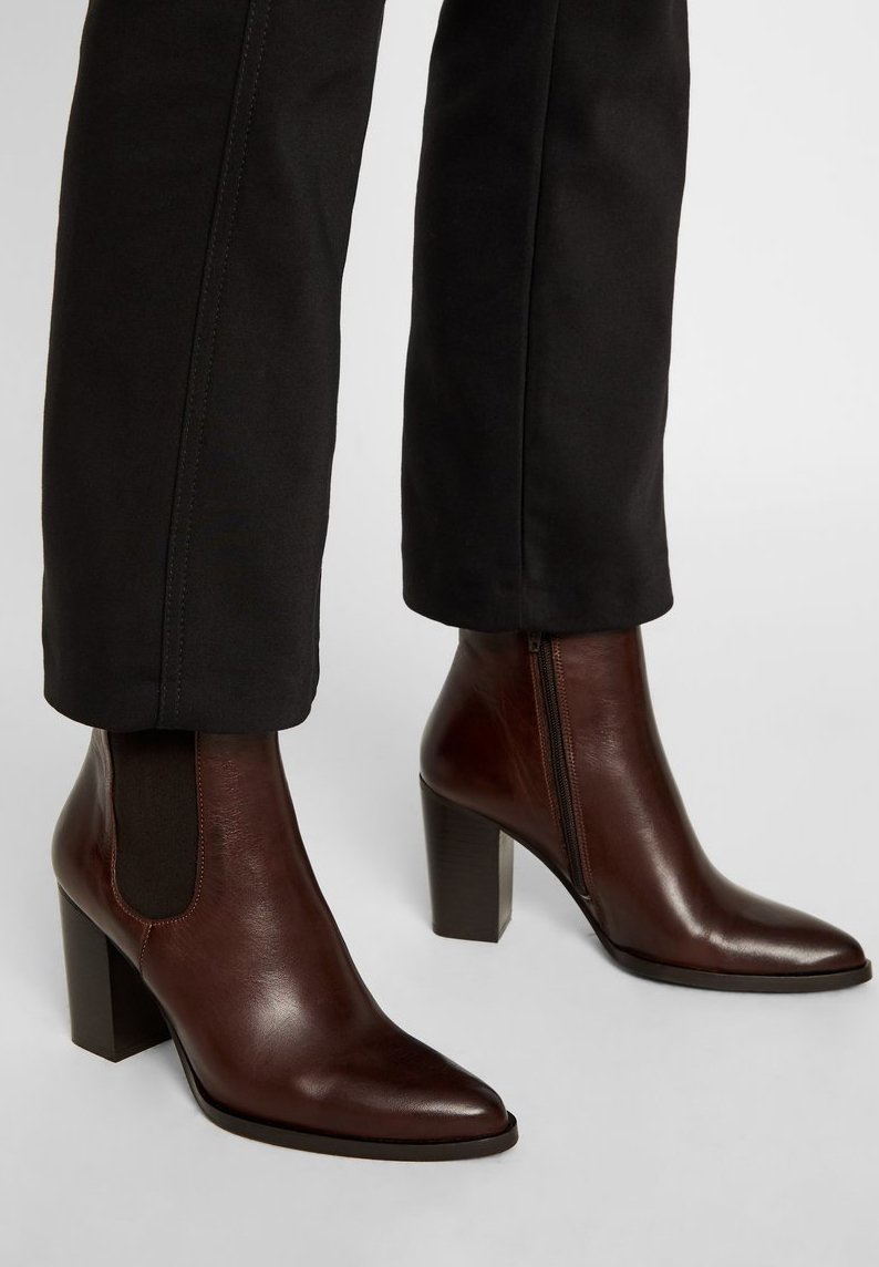 Bianco - High heeled ankle boots - darkbrown