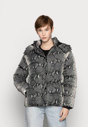 LADIES HOODED PUFFER JACKET - Winter jacket - grey