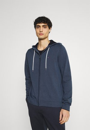 TIPPED DOUBLE FACE ZIP HOODIE - Kardigan - faded indigo