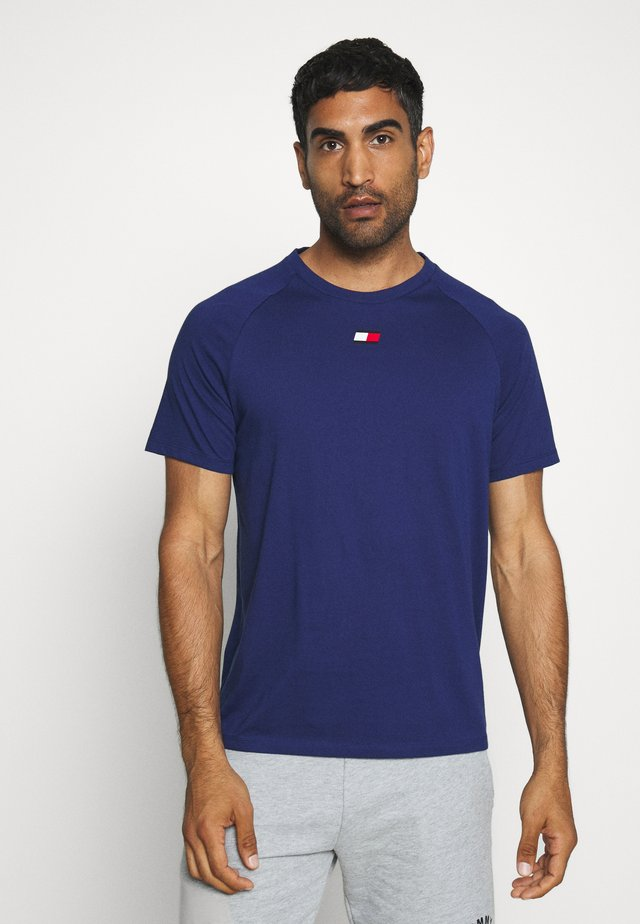CHEST LOGO - T-shirts - blue