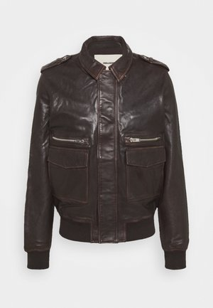 LEONARD - Leather jacket - brown