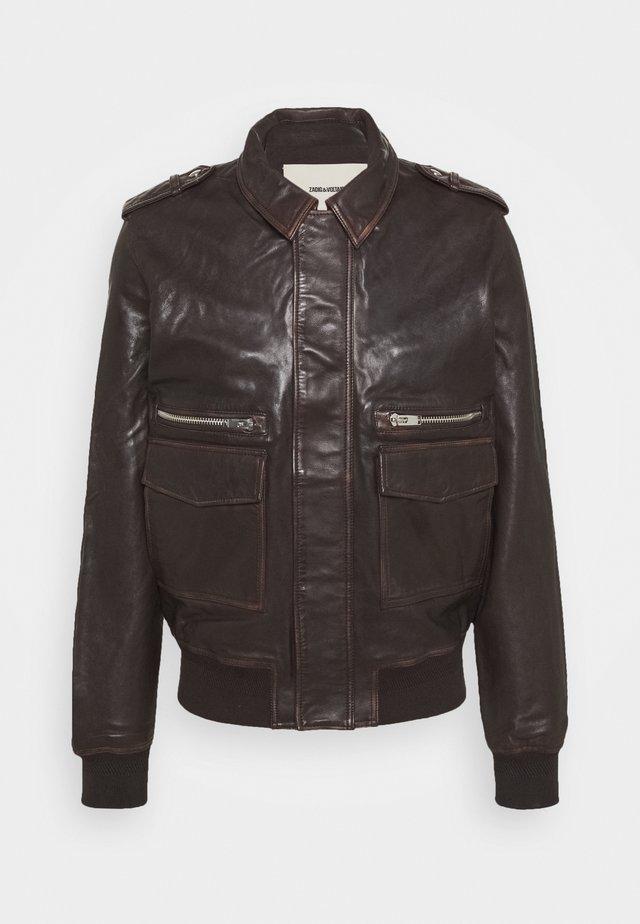 LEONARD - Veste en cuir - brown
