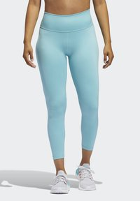 adidas Performance - BELIEVE THIS 2.0 PRIMEBLUE 7/8 LEGGINGS - Tights - blue - 0