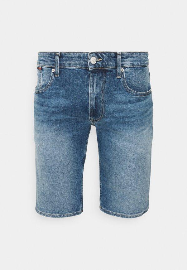 Tommy Jeans RONNIE RELAXED - Szorty jeansowe - blue denim/niebieski denim Odzież Męska MALY