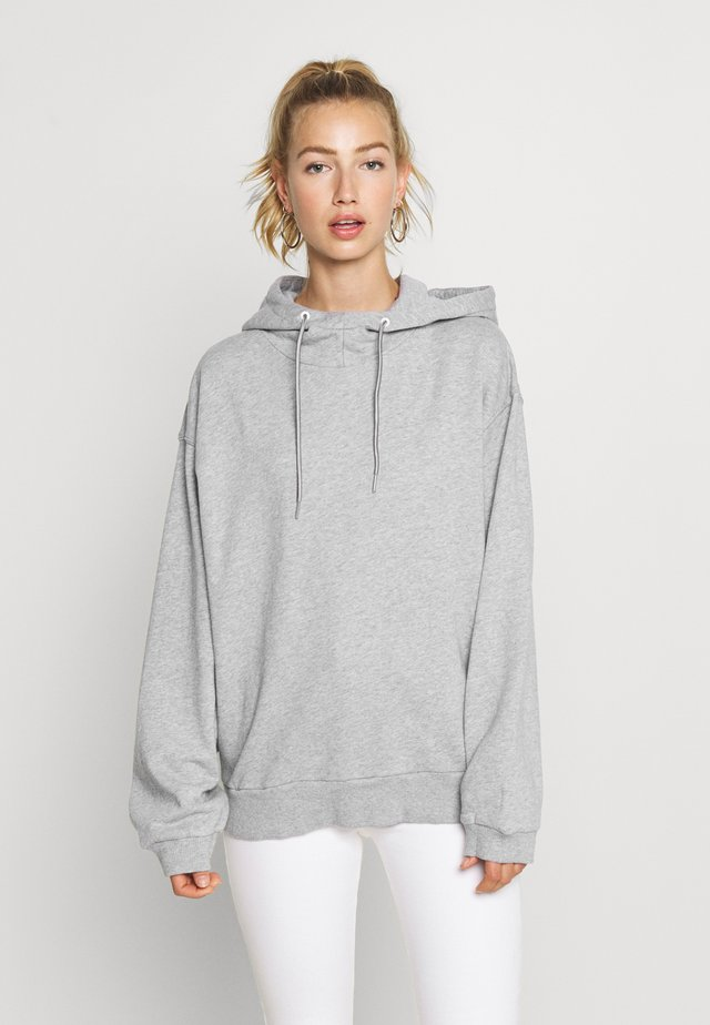 JASMAR HOODED SW WMN S/S - Huppari - grey