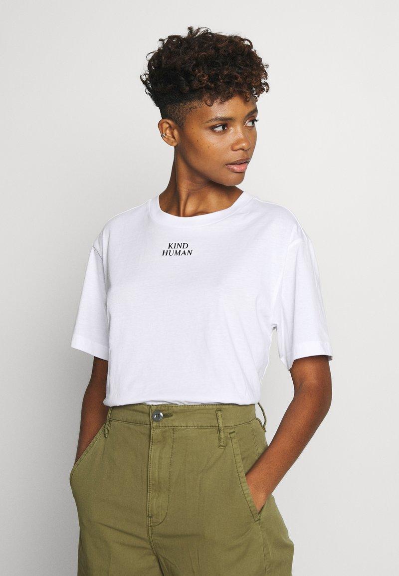 Monki - TOVI TEE - Print T-shirt - white