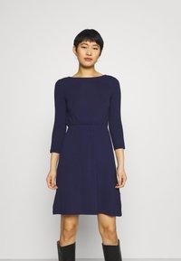Anna Field - Mini waisted basic dress - Jersey dress - dark blue - 0