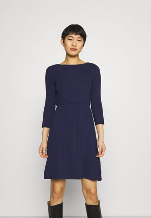 Mini waisted basic dress - Jersey dress - dark blue