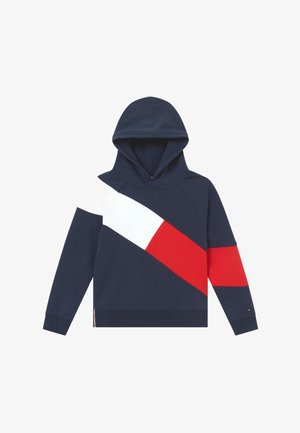 FLAG BLOCKING HOODIE - Hættetrøjer - blue