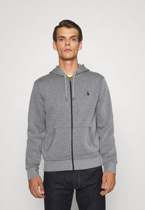 DOUBLE-KNIT FULL-ZIP HOODIE - Tröja med dragkedja - classic grey heather