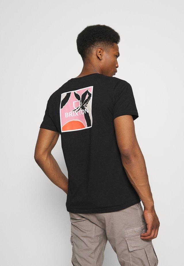 ALPHA SQUARE SUNSET - T-shirt imprimé - black