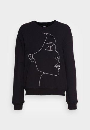 LOOSE SWEATSHIRT FACE PRINTED - Sweatshirt - black