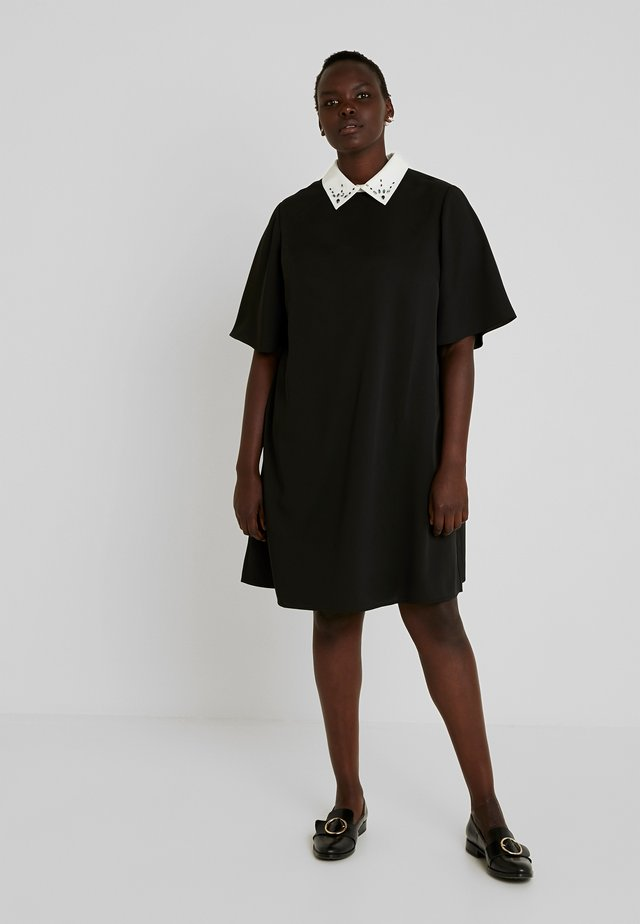DRESS WITH COLLARS - Day dress - black