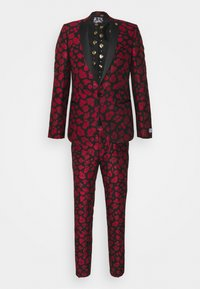 Twisted Tailor - FOSSA SUIT SET - Puku - black red - 11