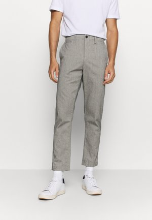 SPRING MENSWEAR TROUSER - Trousers - grey heather/white