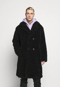Topman - TEDDY COAT - Classic coat - black - 0