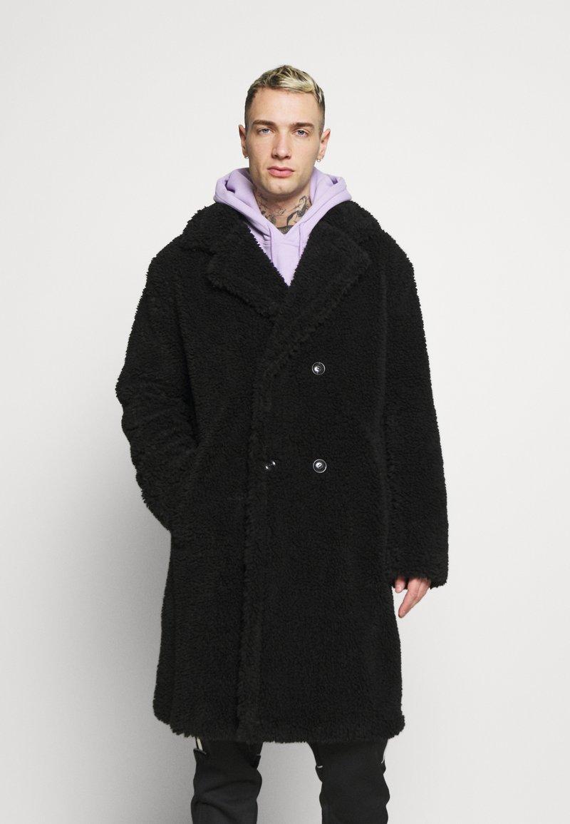 Topman - TEDDY COAT - Classic coat - black
