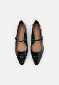 Who What Wear - MARJORY - Ankle strap ballet pumps - black - 5