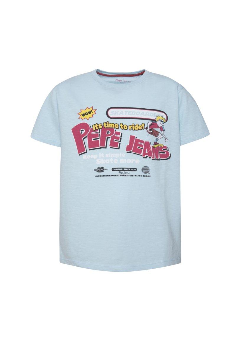 Pepe Jeans - AUGUST - Print T-shirt - eventide blau