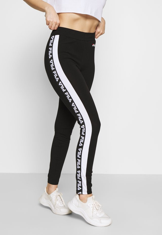TASYA PETITE - Leggings - black/bright white