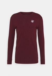 SIKSILK - STRAIGHT HEM GYM TEE - Long sleeved top - burgundy - 3