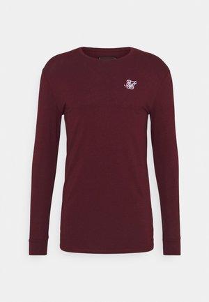 STRAIGHT HEM GYM TEE - Long sleeved top - burgundy