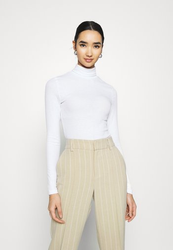 PCPIPPI ROLLNECK NOOS - Long sleeved top - bright white