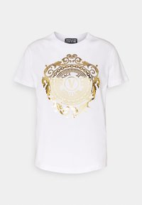 Versace Jeans Couture - Print T-shirt - optical white/gold - 4
