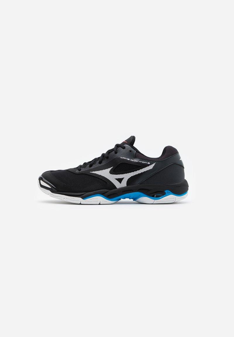 Mizuno - WAVE PHANTOM 2 - Handball shoes - black/white/diva blue