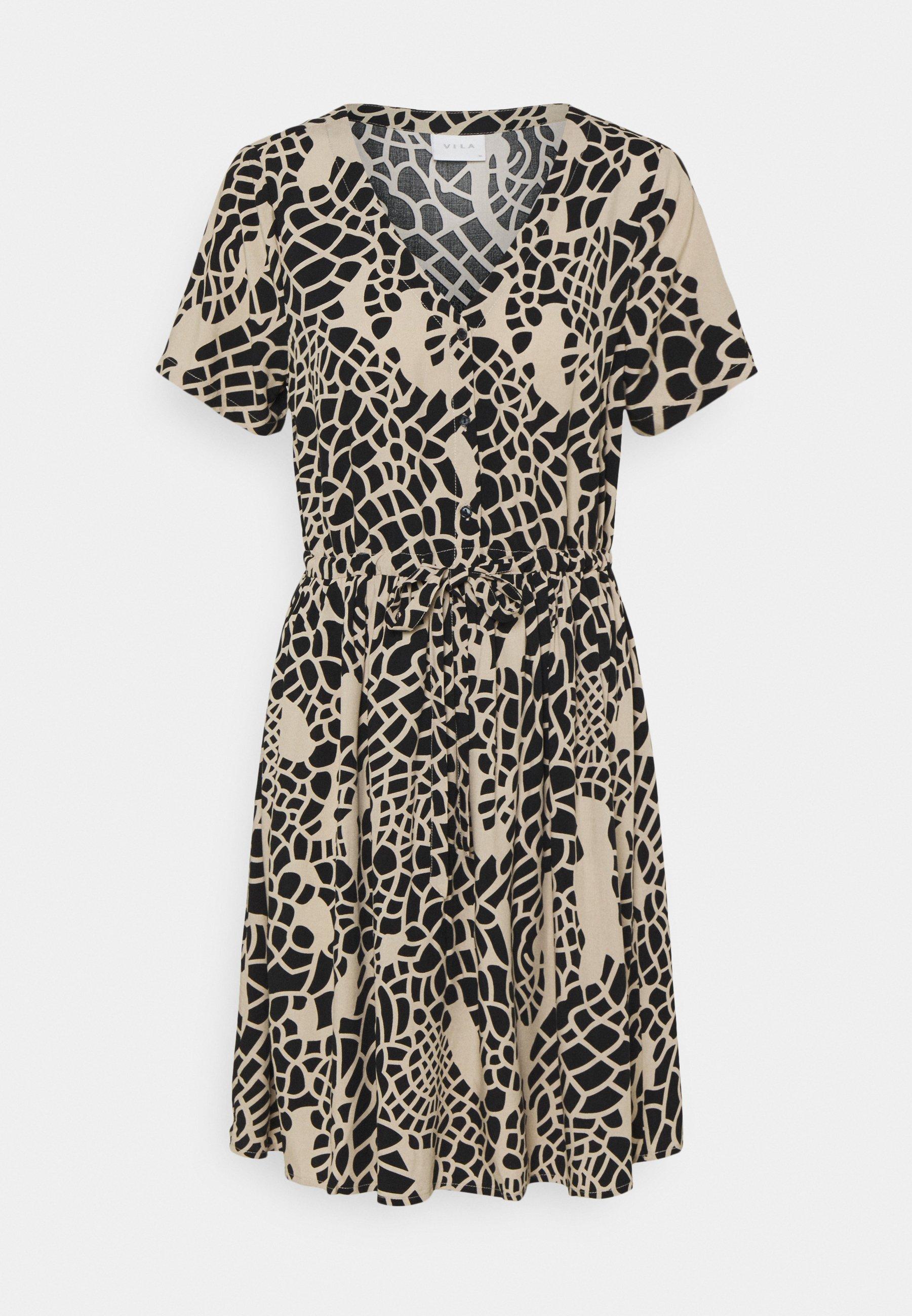 Women VILISE V NECK DRESS - Day dress