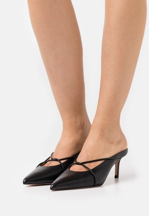INES SABOT - Heeled mules - black