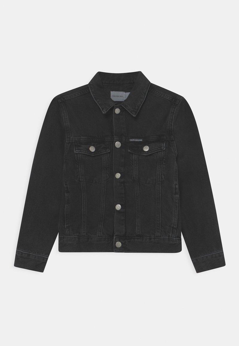 Calvin Klein Jeans - TRUCKER UNISEX - Jeansjacke - black denim