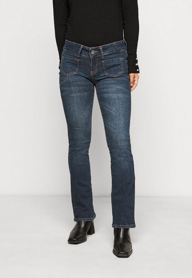 VMDINA - Flared Jeans - dark blue denim