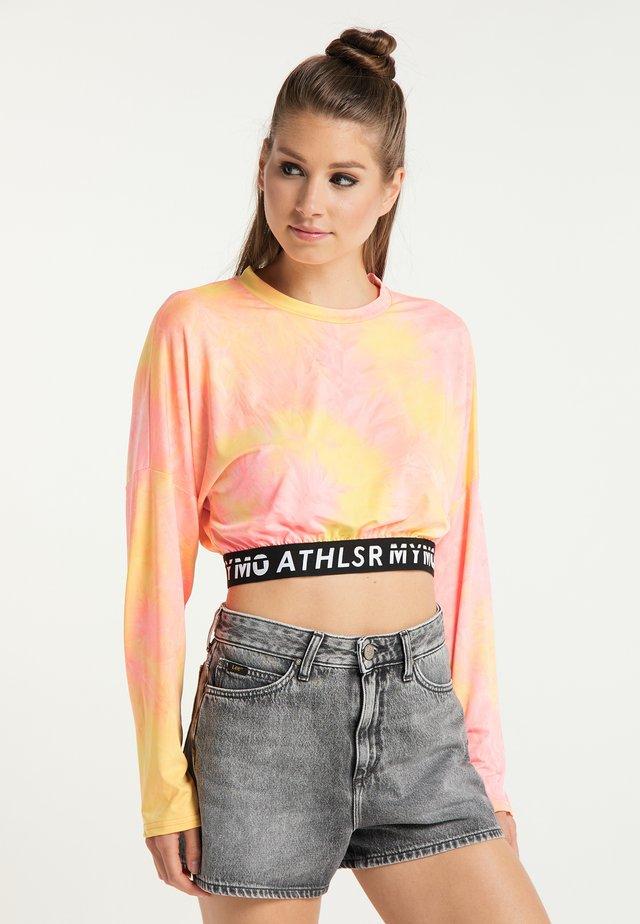 Maglietta a manica lunga - orange pink