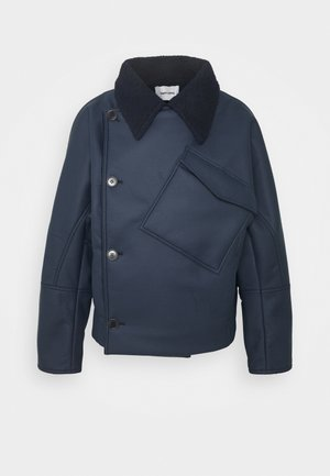 THINKING IT JACKET - Faux leather jacket - dark blue