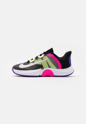COURT AIR ZOOM TURBO - Multicourt tennis shoes - black/white/fierce purple/liquid lime