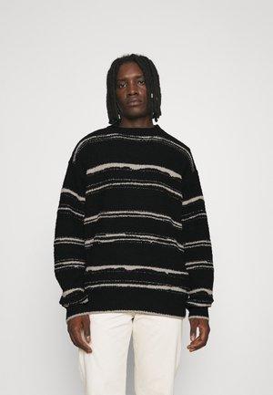 HENNESSEY BRUSHED STRIPE - Pullover - black
