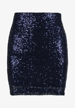 EXCLUSIVE HOLLY GLITTER SKIRT - Minijupe - night sky